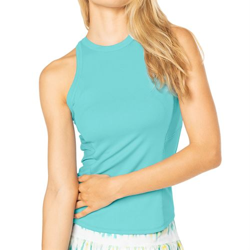 Lucky in Love Peace Out One Love Rib Tank Womens Opal CT709 470