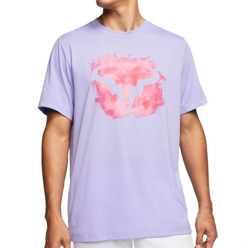 Nike Court Dri Fit Rafa Tee Shirt Mens Purple Pulse CU0324 531