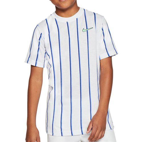 Nike Boys Court Dri Fit Crew Shirt White CU0338 100