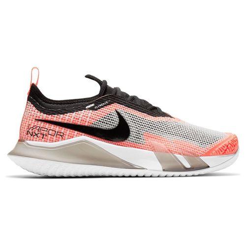 Nike Court React Vapor NXT Womens Tennis Shoe White/Black/Bright Mango/Volt CV0742 101