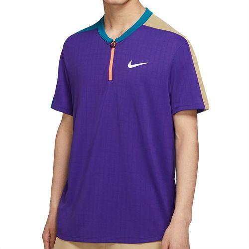 Nike Court Breathe Slam Crew Shirt Mens Court Purple/Green Abyss/White CV2491 547