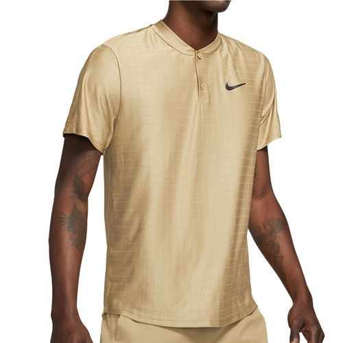 Nike Court Dri FIT Advantage Shirt Mens Parachute Beige/Black CV2499 297
