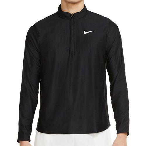 Nike Court Breathe Advantage 1/2 Zip Jacket Mens Black/White CV2866 010