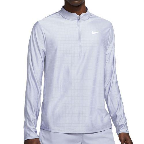 Nike Court Breathe Advantage 1/2 Zip Jacket Mens Indigo Haze/White CV2866 519