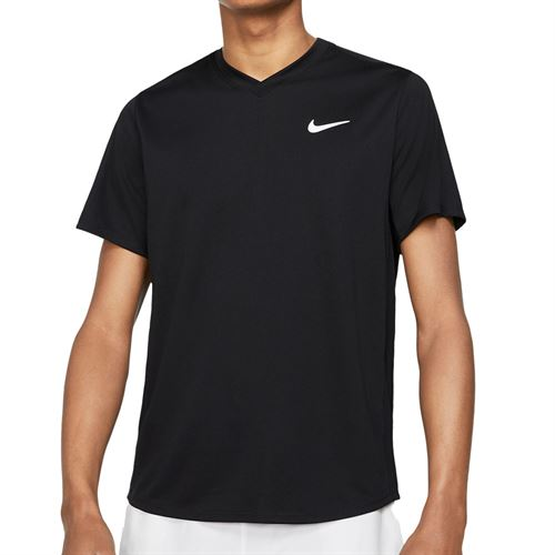 Nike Court Dri-Fit Victory Crew - Black/White