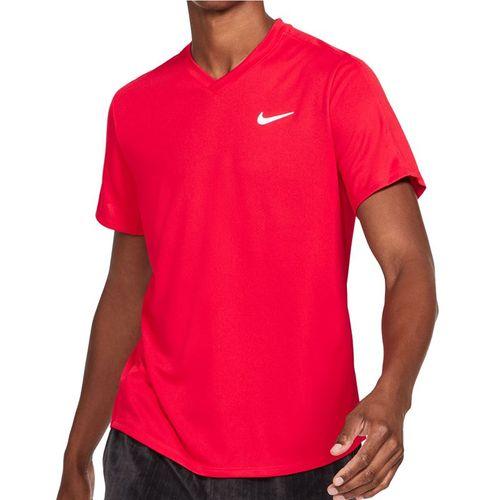 Nike Court Dri FIT Victory Shirt Mens University Red/White CV2982 657