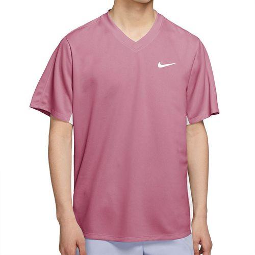 Nike Court Dri FIT Victory Shirt Mens Elemental Pink/White CV2982 698