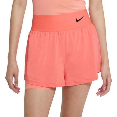 Nike Court Advantage Short Womens Crimson Bliss/Black CV4792 694