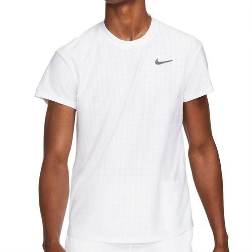 Nike Court Breathe Advantage Shirt Mens White/Black CV5032 100