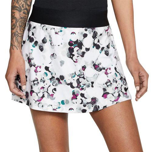 Nike Court Dry Printed Straight Skirt Womens Black/White CW2138 010