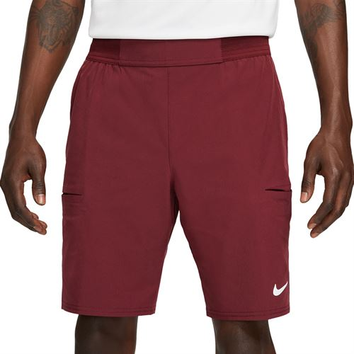 Nike Court Advantage 9 Inch Short - Dark Beetroot/White