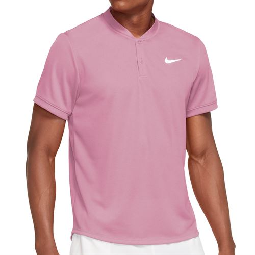 Nike Court Dri FIT Shirt Mens Elemental Pink/White CW6288 698