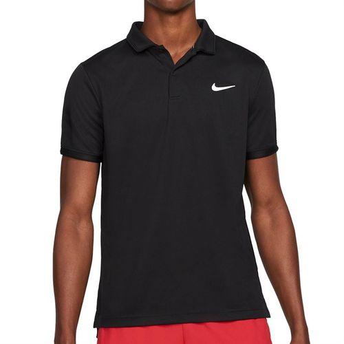 Nike Court Dri FIT Victory Polo Shirt Mens Black/White CW6849 010