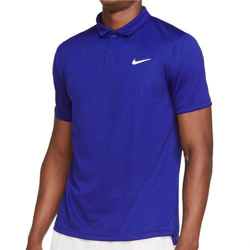 Nike Court Dri FIT Victory Polo Shirt Mens Concord/White CW6849 471
