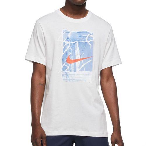 Nike Court Seasonal Energy Tee Shirt Mens White/Black DA5318 100