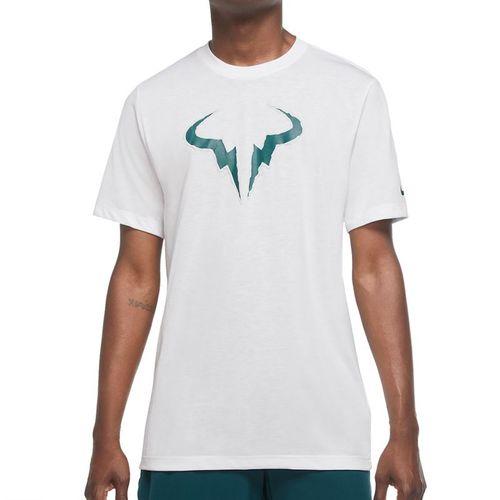 Nike Court Rafa Tee Shirt Mens White/Teal DA5399 100