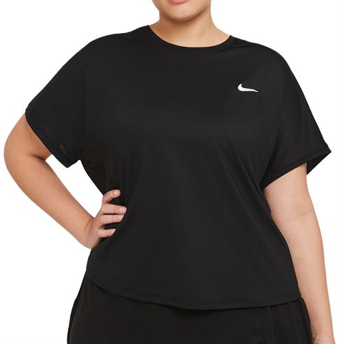 Nike Court Victory Top Extended/Plus Size Womens Black/White DB6618 010