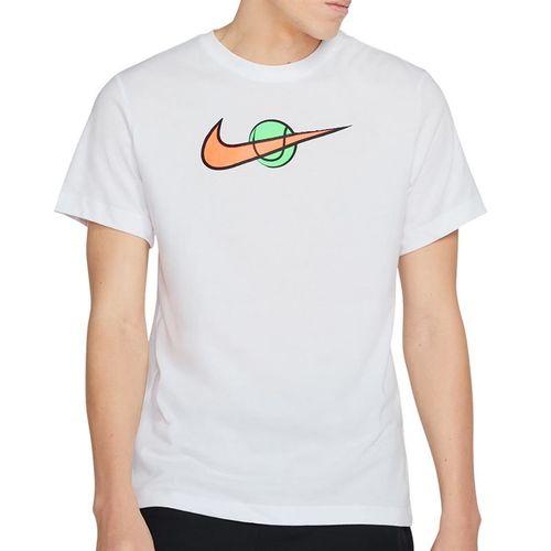Nike Court Swoosh Tee Shirt Mens White DC5249 100
