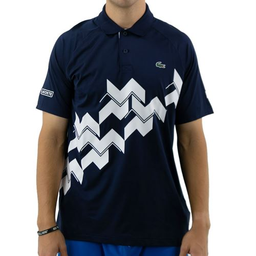 Lacoste SPORT x Novak Djokovic Breathable Polo - Navy Blue/White