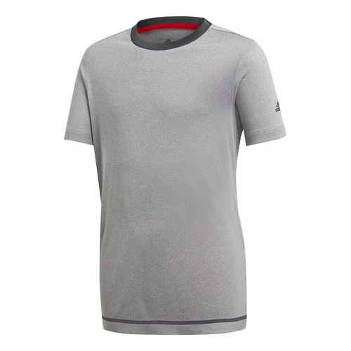 adidas Boys Barricade Tee - Light Grey Heather