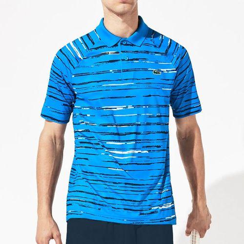 Lacoste Novak Raglan Polo - Nattier Blue/Navy Blue/White