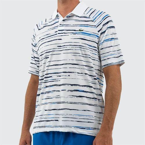 Lacoste Novak Raglan Polo - White/Navy Blue/Nattier Blue
