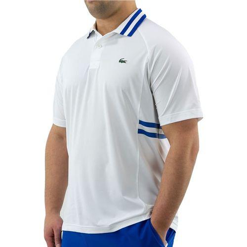 Lacoste SPORT x Novak Djokovic Breathable Polo - White/Lazuli