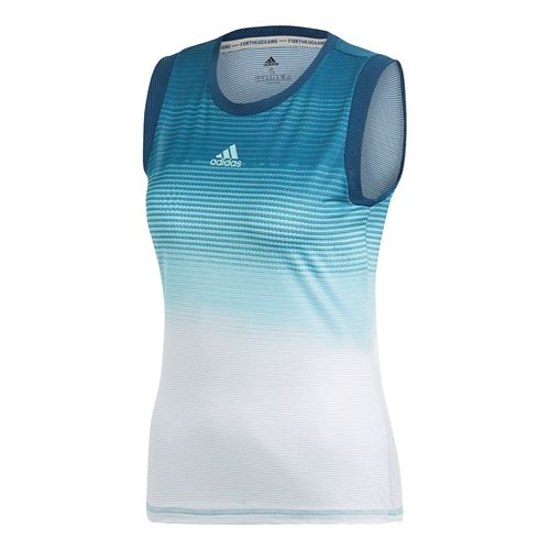 adidas Parley Tank - Blue Spirit/White