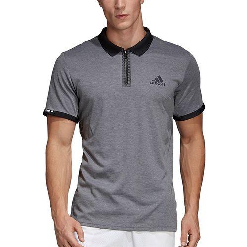 adidas Escouade Polo - Grey Heather/Black