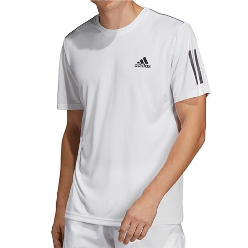 adidas Club 3 Stripe Crew - White/Black