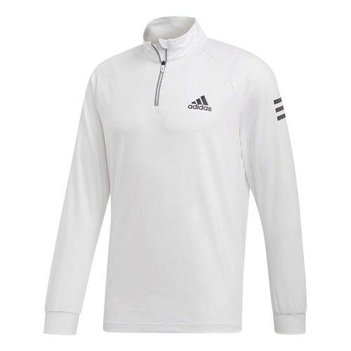 brand new e54c5 cd60a adidas Club 1 4 Zip Midlayer - White Black