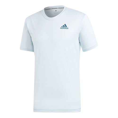 adidas Parley Striped Crew - White/Easy Blue
