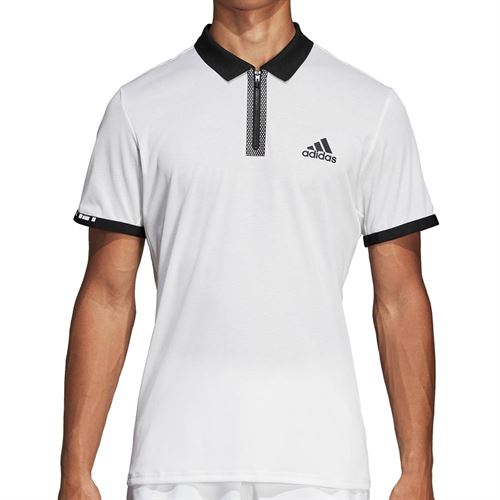 adidas Escouade Polo - White/Black