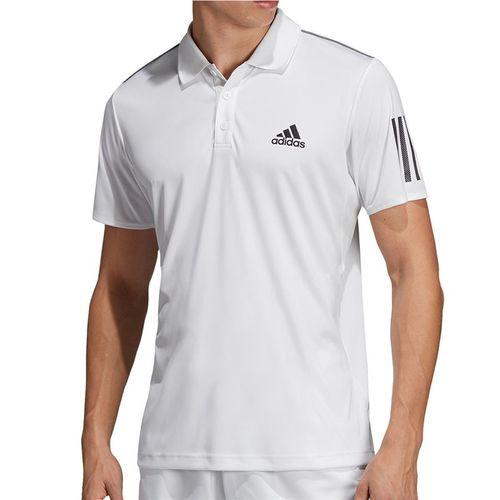 adidas Club 3 Stripe Polo Mens White/Black DU0849