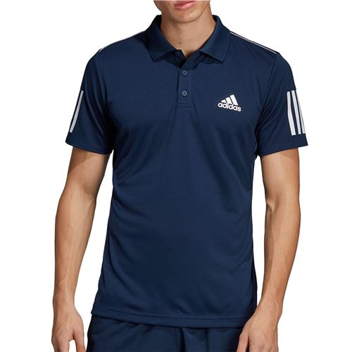 adidas Club 3 Stripe Polo - Collegiate Navy/White