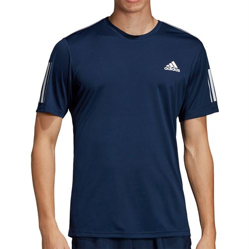 adidas Club 3 Stripe Crew - Collegiate Navy/White