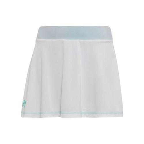 adidas Girls Parley Skirt - White/Easy Blue