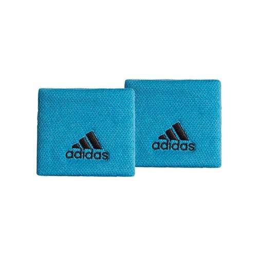 adidas Tennis Small Wristband - Shock Cyan/Black