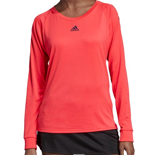 adidas Escouade Long Sleeve - Shock Red/Legend Purple