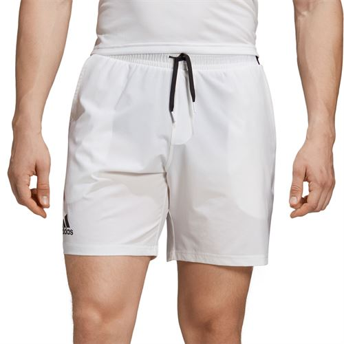 adidas Club 7 Inch Short - White