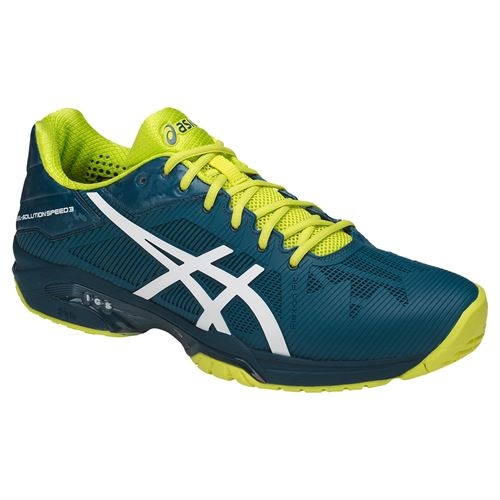 Asics Gel Solution Speed Mens Tennis Shoe - Ink Blue/White/Sulphur Springs