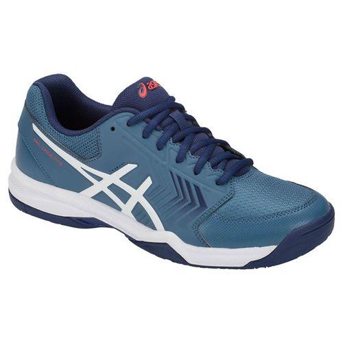 ASICS Gel Dedicate 5 Mens Tennis Shoe - Azure/White