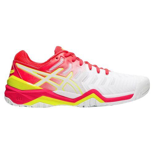 Asics Gel Resolution 7 Womens Tennis Shoe - white/Laser Pink