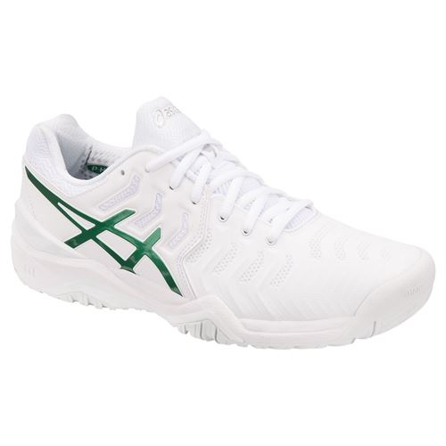 795ef710740a Asics Gel Resolution 7 Novak Djokovic Wimbledon Mens Tennis Shoe - White  Green