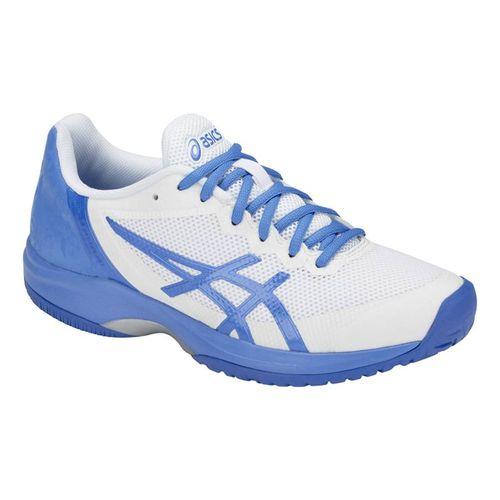 Asics Gel Court Speed Womens Tennis Shoe - White/Coastal Blue