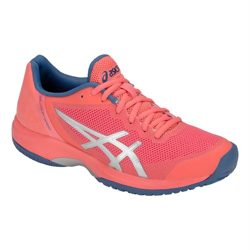 buy online 7d93b d3e5e Asics Gel Court Speed Womens Tennis Shoe - Papaya Silver
