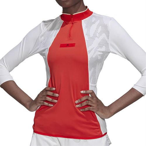 adidas Stella McCartney Long Sleeve Top - Active Red