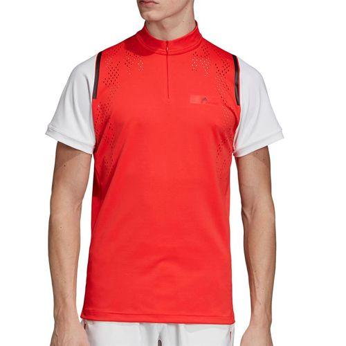 adidas Stella McCartney Zipper Shirt - Active Red