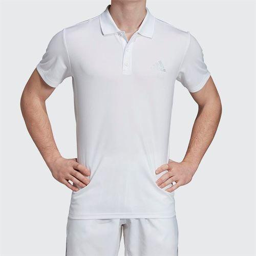 adidas Club Rib Polo - White EC3030