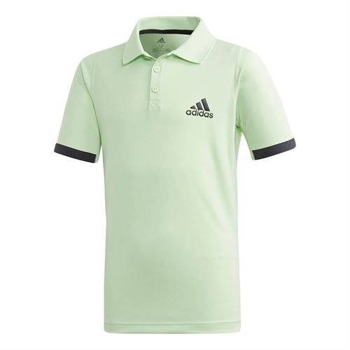 adidas Boys NY Polo - Glow Green/Carbon